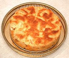 äppelkaka med knäckig yta