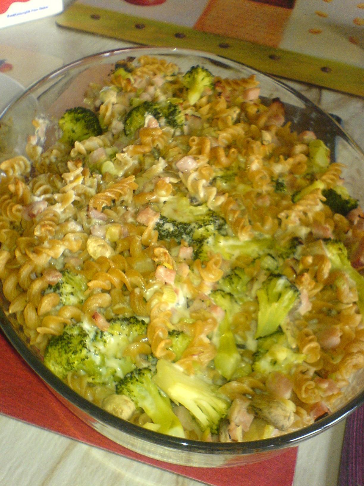 broccoli purjolök gratäng