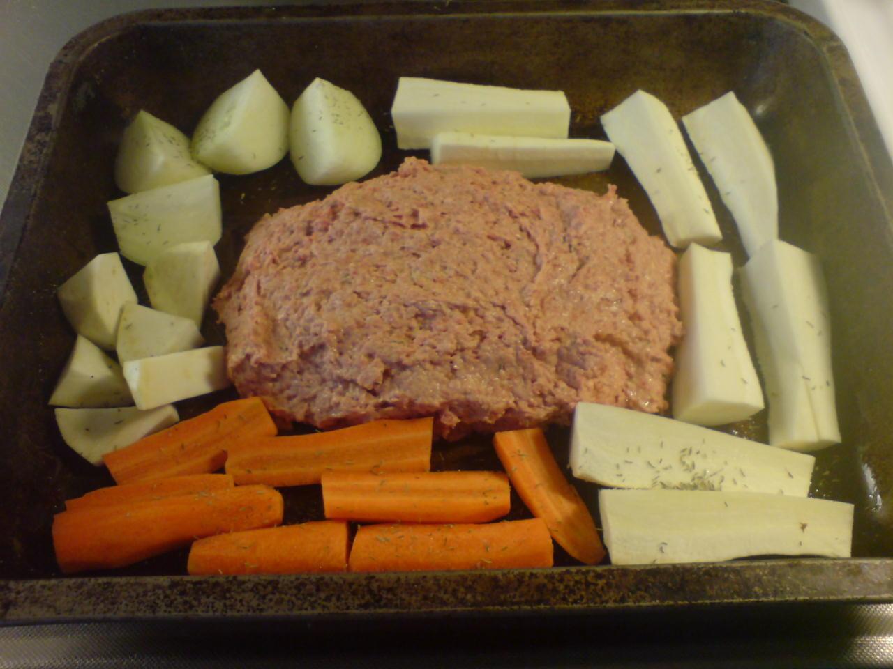 enkel köttfärslimpa med creme fraiche