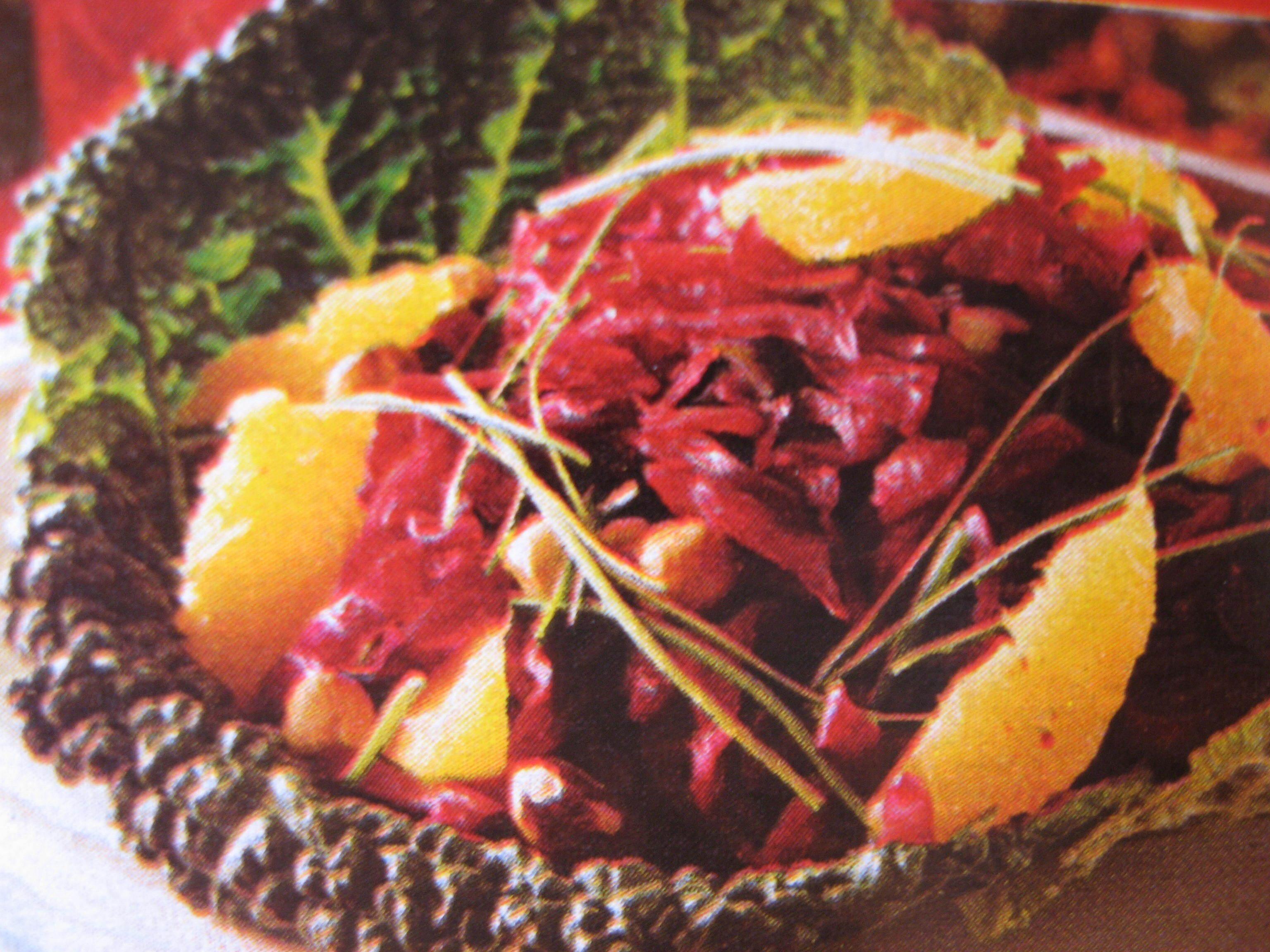 rödkålssallad med apelsin