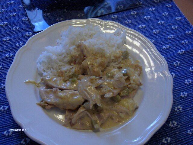 grillad kyckling ananas grädde