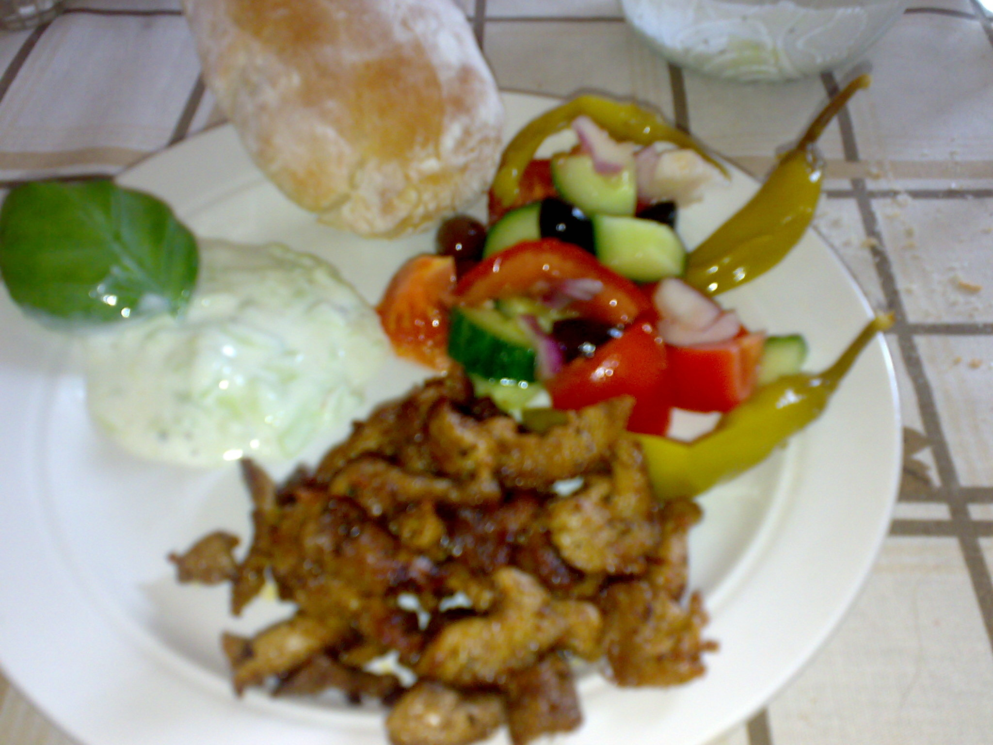 gyros-sallad