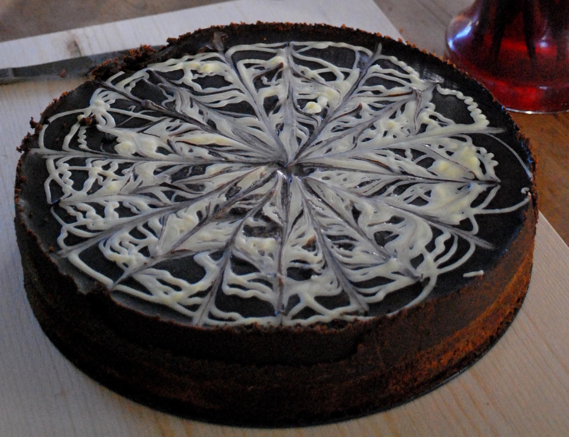 choklad kaka med chokladglasyr