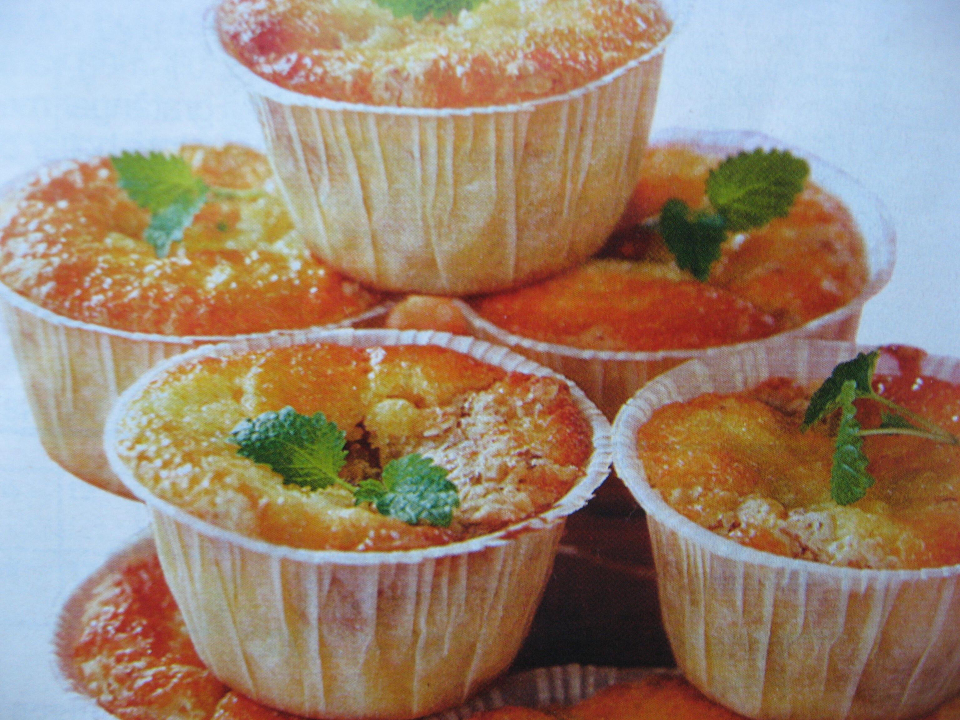 äppelmuffins med rivet äpple