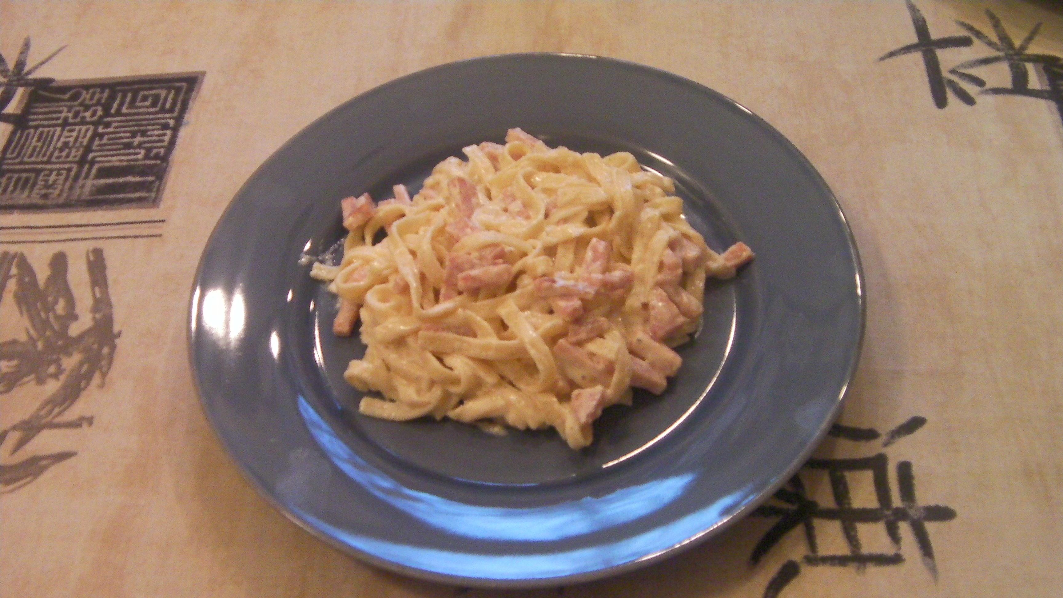 krämig pasta carbonara kassler