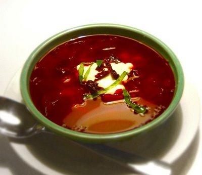 rödbetssoppa med vitkål