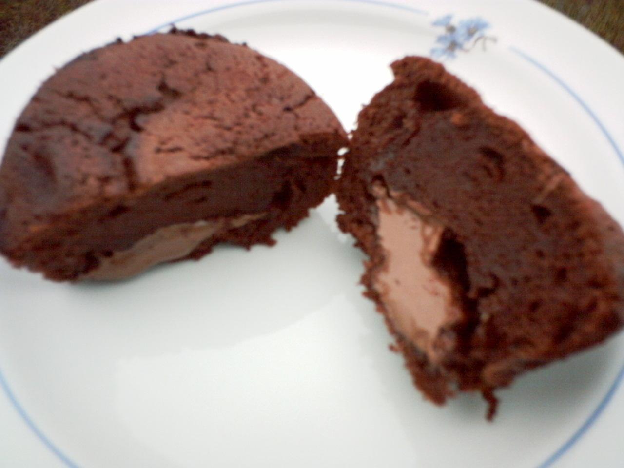 chokladmuffins med mjölkchoklad bitar i