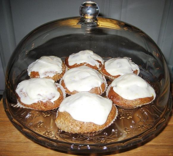 pepparkaksmuffins med glasyr