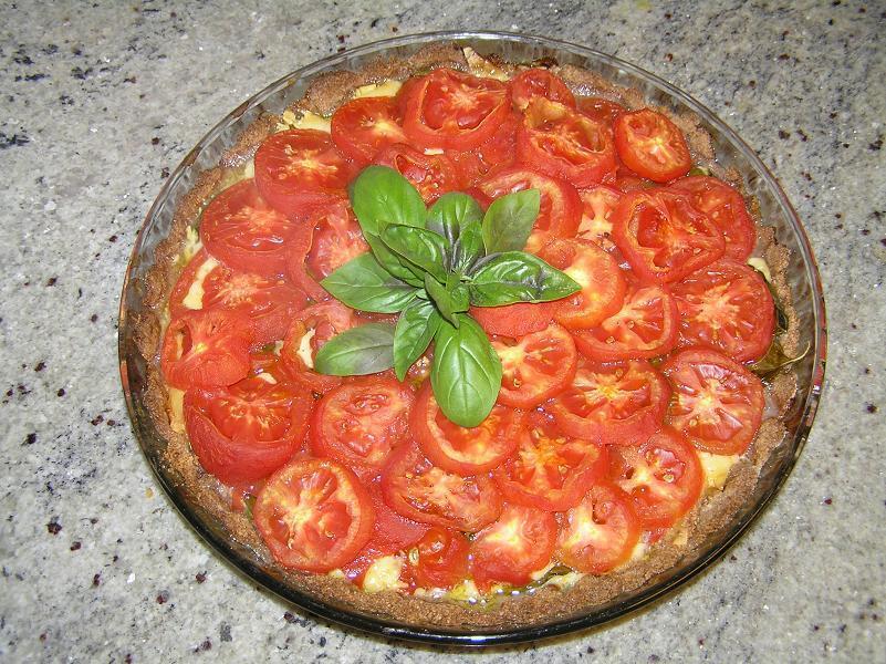 tomatpaj med creme fraiche