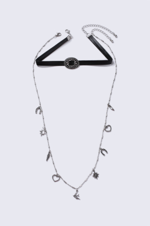 Black Buckle Choker Necklace thumbnail