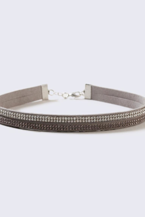 Two Row Rhinestone Choker thumbnail