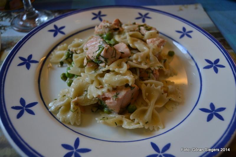 het lax med pasta