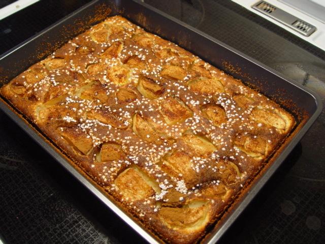 äppelkaka med knäck
