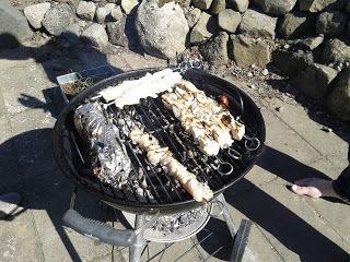 marinerat saftiga kycklingspett spett