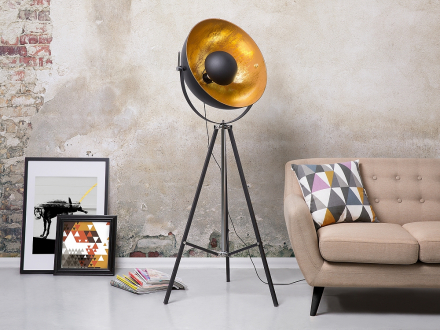Modern golvlampa svart - stående lampa - belysning - THAMES II