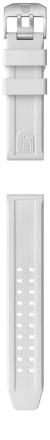 Vitt PU-armband till Luminox 3050/3080/3150/3180 (23 mm)