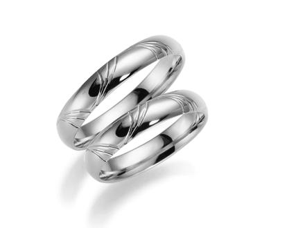 Förlovningsring 18k vitguld Romans 253-4 - 45