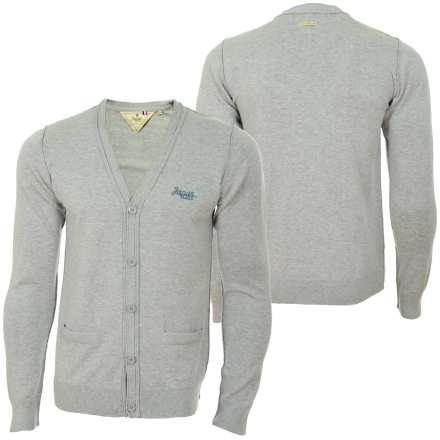 Japan Rags Homme Ziway Knitted Men Cardigan gray