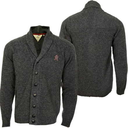 Japan Rags Button Men Cardigan Charcoal