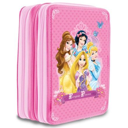 Disney - Disney Prinsessor Fyllt Pennfodral Med Tre Fack