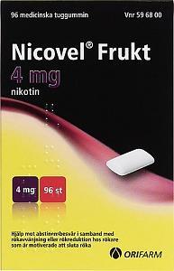 Nicovel Frukt 4 mg, tuggummi, 96 st