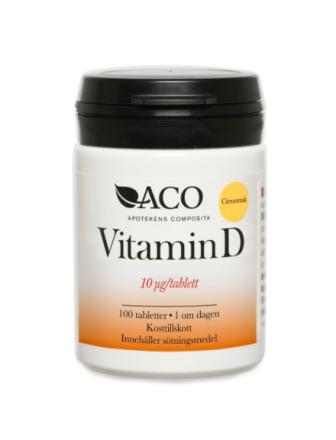 ACO Vitamin D 10 µg, 100 st