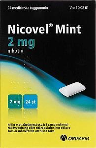 Nicovel Mint, tuggummi 2 mg, 24 st