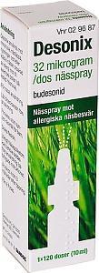 Desonix nässpray, 32 mikrogram/dos, 120 doser