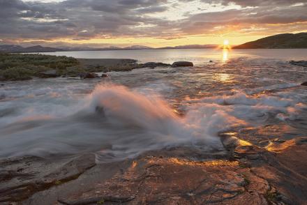 Padjelanta Archipelago, Sweden Fototapeter & Tapeter 100 x 100 cm