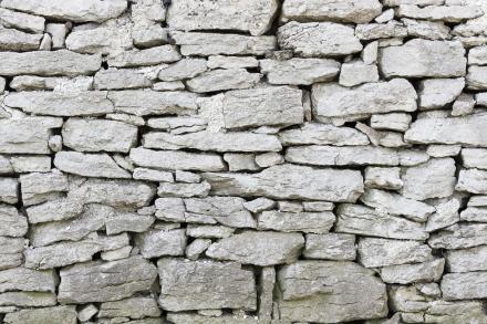Gotland Stone Wall Fototapeter & Tapeter 100 x 100 cm