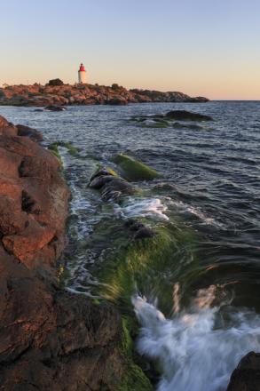 Rocks in Stockholm Archipelago Fototapeter & Tapeter 100 x 100 cm