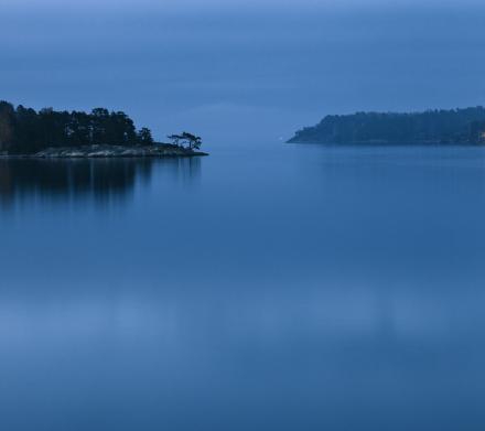 Dusk in Stockholm Archipelago Fototapeter & Tapeter 100 x 100 cm