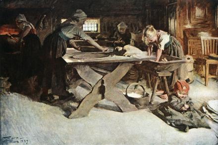 Anders Zorn - Bakningen Fototapeter & Tapeter 100 x 100 cm