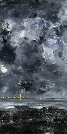 City, August Strindberg Fototapeter & Tapeter 100 x 100 cm