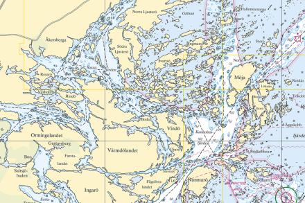 Middle Archipelago Fototapeter & Tapeter 100 x 100 cm