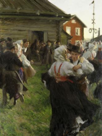Midsommardans, Anders Zorn Fototapeter & Tapeter 100 x 100 cm