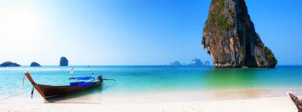 Thailand Island Beach Fototapeter & Tapeter 100 x 100 cm