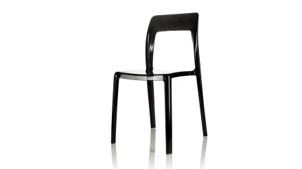 Pudeln - Stol i polykarbonat - Transparent svart