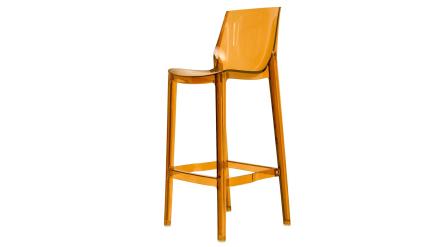 Mastiffen - Barstol i polykarbonat - Transparent Brun 75cm