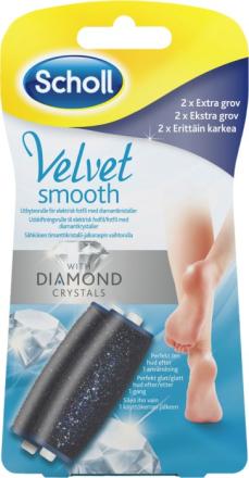 Scholl Velvet Smooth Diamond Refill Extra Grov 2 st