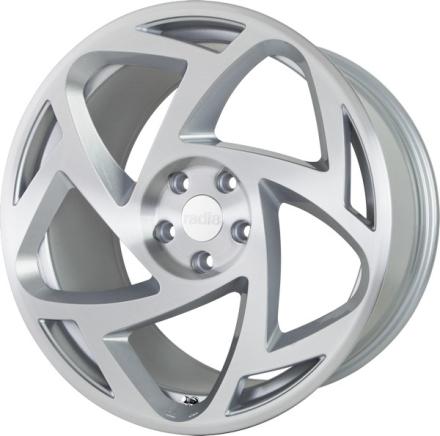 RADI8 R8-S5 Matt Silver Machine Face 18x9.5 ET42 CB66.6 5x112