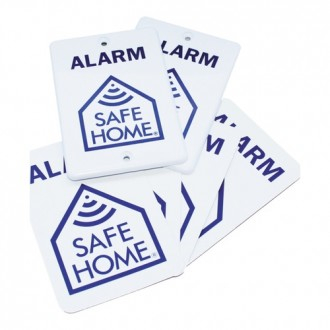 SafeHome Signs Pack, 2 ABS (outdoor) w/4 adhesive signs