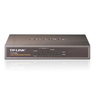 TP-Link 8-Port 10-100 PoE Switch with 4 PoE Ports Steel case
