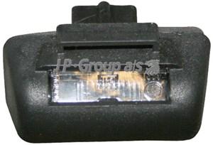 Belysning, registreringsskylt, Bak