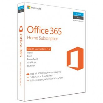 Microsoft- Office 365 Home Premium 32-bit-x64 Swedish Nordic