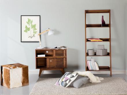 Hylla brun - bokhylla - vardagsrum - MOBILE TRIO