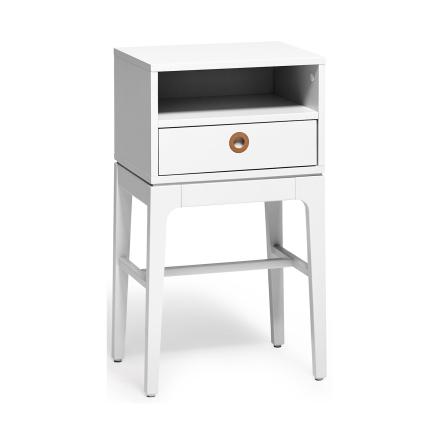 Höllviken sängbord i ljusgrå - Ljusgrå med marmorskiva