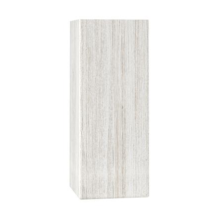 Fyrkantiga raka träben 8x8 cm vitlaserad ek - 20 cm