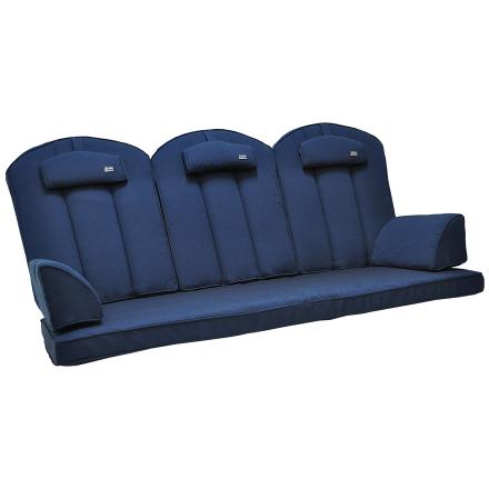 Hammockdynor hög rygg Fritab Editon blå strukturdralon