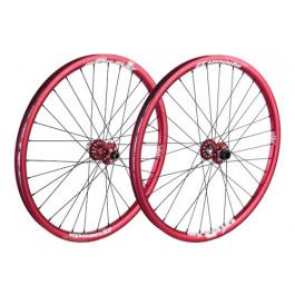 """MTB MTB/Hjul VINTERREA """"Spank Spoon Hjulset 26"""""""" Röd (135x12mm)"""""""
